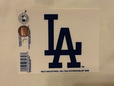 Los Angeles Dodgers Static Cling Sticker NEW!! Window or Car! Matt Kemp