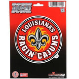 "Louisiana-Lafayette Ragin Cajuns 5"" x 5"" Die-Cut Decal Window, Car or Laptop!"