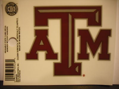 Texas A&M Aggies Static Cling Sticker NEW!! Window or Car! NCAA