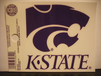 Kansas State Wildcats Static Cling Sticker NEW!! Window or Car! NCAA
