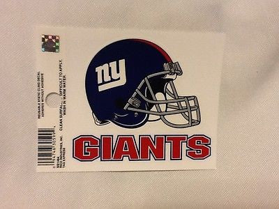 New York Giants Helmet Logo Static Cling Sticker NEW! Window or Car! Eli Manning