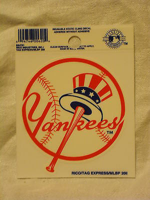 New York Yankees Logo Static Cling Sticker NEW!! Window or Car! Derek Jeter