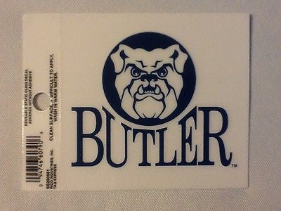 Butler Bulldogs Static Cling Sticker NEW!! Window or Car! NCAA