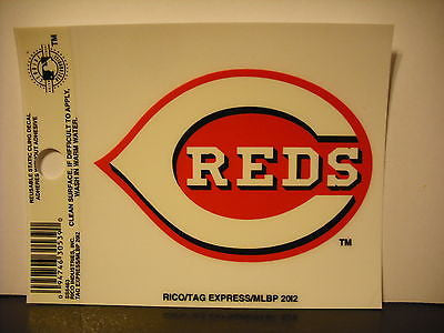 Cincinnati Reds Logo Static Cling Sticker NEW!! Window or Car! Joey Votto