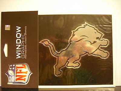 Detroit Lions Window Graphic Decal NEW!! Chrome FREE SHIPPING Calvin Johnson