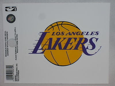 Los Angeles Lakers Logo Static Cling Sticker NEW!! Window or Car! NBA Kobe
