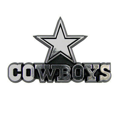 Dallas Cowboys Logo 3D Chrome Auto Emblem NEW! Truck or Car Romo