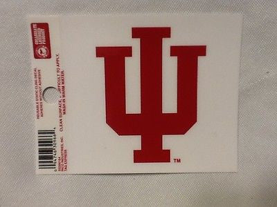 Indiana Hoosiers Static Cling Sticker NEW!! Window or Car! NCAA