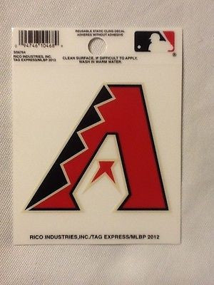 Arizona Diamondbacks Static Cling Sticker Decal NEW!! Window or Car! Dbacks