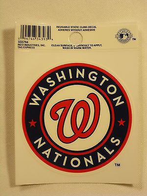 Washington Nationals Logo Static Cling Sticker NEW!! Window or Car! Bryce Harper