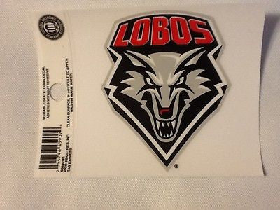 New Mexico Lobos Static Cling Sticker NEW!! Window or Car! NCAA The Pit