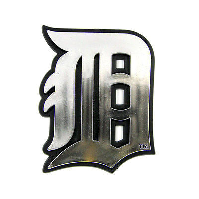 Detroit Tigers Logo 3D Chrome Auto Decal Sticker NEW!! Truck or Car!!