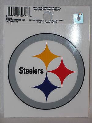 Pittsburgh Steelers Logo Static Cling Sticker NEW!! Window or Car!
