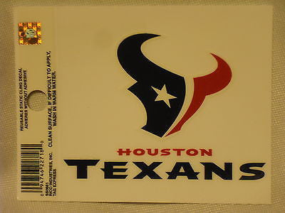 Houston Texans Logo Static Cling Sticker NEW!! Window or Car! Arian Foster