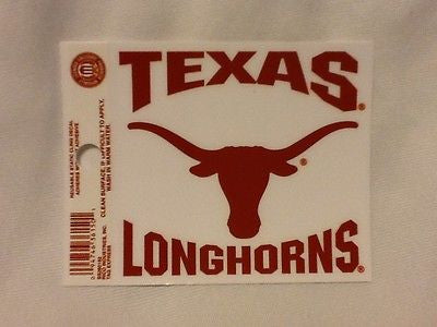 Texas Longhorns Static Cling Sticker NEW!! Window or Car! NCAA