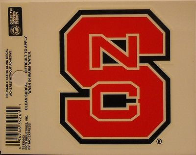 North Carolina State Wolfpack Static Cling Sticker NEW!! Window or Car! NCAA