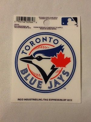 Toronto Blue Jays Static Cling Sticker Decal NEW!! Window or Car!