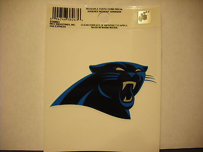 Carolina Panthers New Logo Static Cling Sticker NEW!! Window or Car! Cam Newton