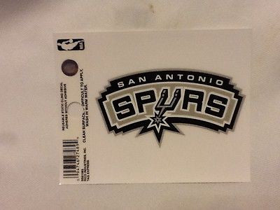 San Antonio Spurs Static Cling Sticker NEW!! Window or Car! NBA