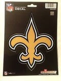 New Orleans Saints Logo Die Cut Decal NEW!! 5 X 6 Window or Car! NFL