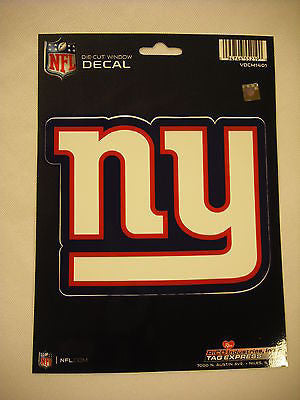 New York Giants Logo Die Cut Decal NEW!! 5 X 4 Window, Car or Laptop!!!
