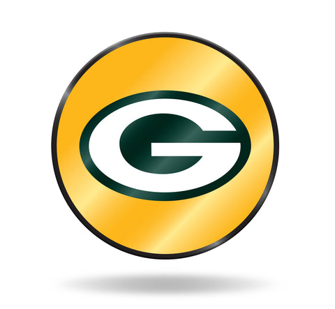 Green Bay Packers Laser Cut Mirror Auto Emblem Disc Decal NEW!! Free Shipping