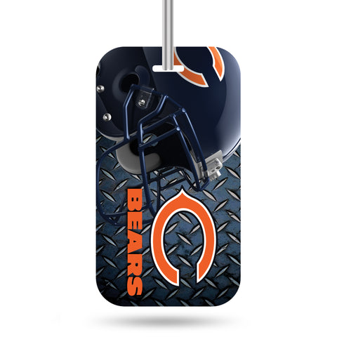 Chicago Bears Logo Luggage Tag Crystal View NEW!! Free Ship Suitcase ID