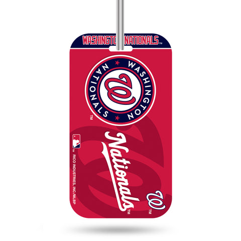 Washington Nationals Logo Luggage Tag Crystal View NEW!! Free Ship Suitcase ID