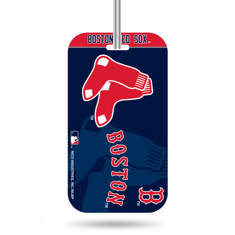 Boston Red Sox Logo Luggage Tag Crystal View NEW!! Free Ship Suitcase ID