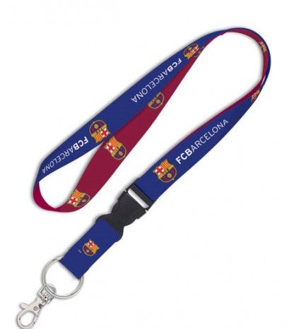 FC Barcelona Lanyard 1x17 Inches Free Shipping! Detachable Buckle