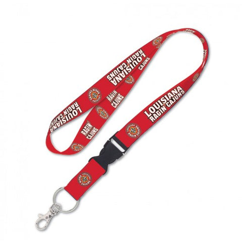 Louisiana Ragin Cajuns Lanyard 1x17 Inches Free Shipping! Detachable Buckle