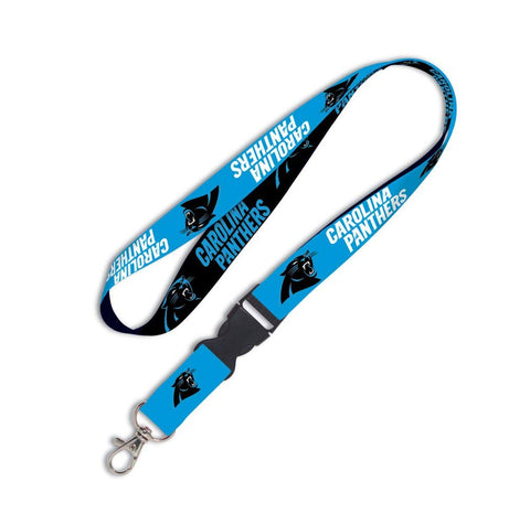 Carolina Panthers Lanyard 1x17 Inches Free Shipping! Detachable Buckle