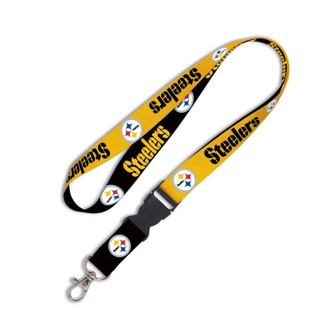 Pittsburgh Steelers Lanyard 1x17 Inches Free Shipping! Detachable Buckle