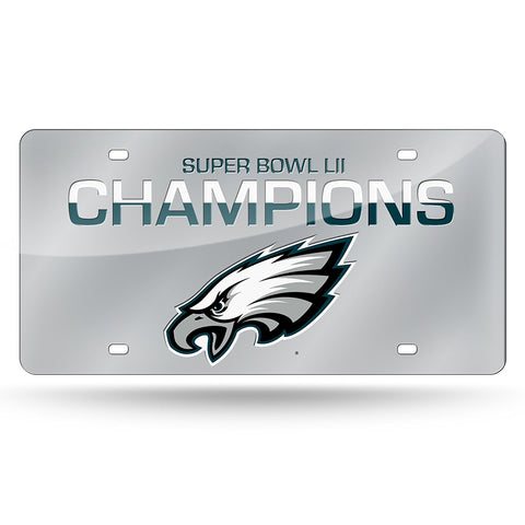 Philadelphia Eagles Super Bowl 52 Champions Laser Cut Mirror License Plate NEW!!