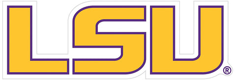 "LSU Tigers Die Cut Magnet ""LSU"" NEW NCAA Free Shipping!"