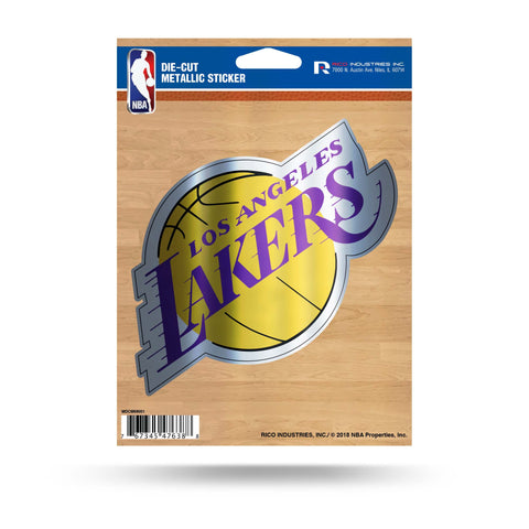 Los Angeles Lakers Metallic Die Cut Decal NEW Window Car or Laptop!