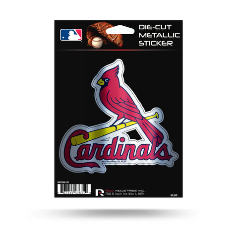 St. Louis Cardinals Metallic Die Cut Decal NEW Window Car or Laptop!