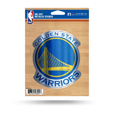Golden State Warriors Metallic Die Cut Decal NEW Window Car or Laptop!