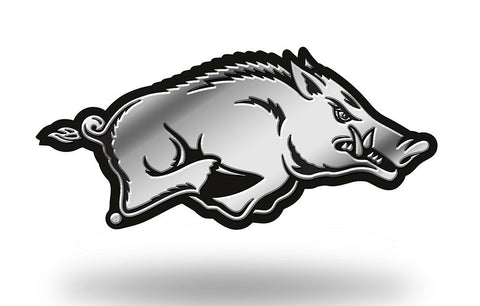 Arkansas Razorbacks Logo 3D Chrome Auto Emblem NEW!! Truck or Car! Rico NCAA