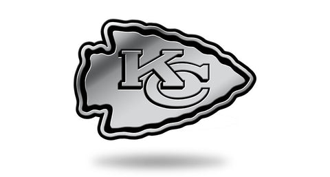 Kansas City Chiefs Logo 3D Chrome Auto Emblem NEW!! Truck or Car! Rico