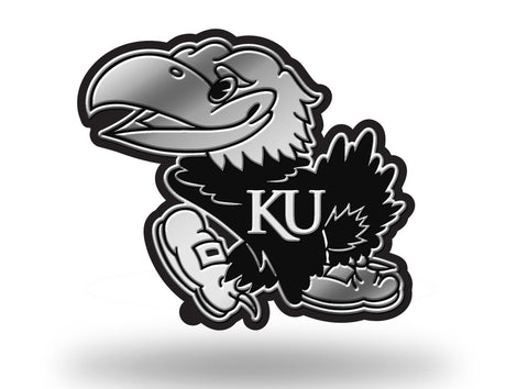 Kansas Jayhawks Logo 3D Chrome Auto Emblem NEW!! Truck or Car! Rico NCAA
