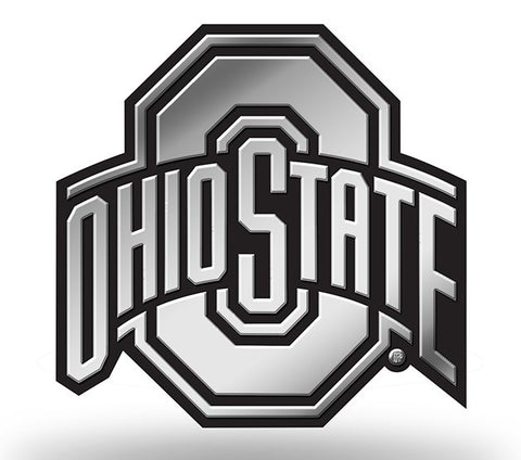 Ohio State Buckeyes Logo 3D Chrome Auto Emblem NEW!! Truck or Car! Rico NCAA