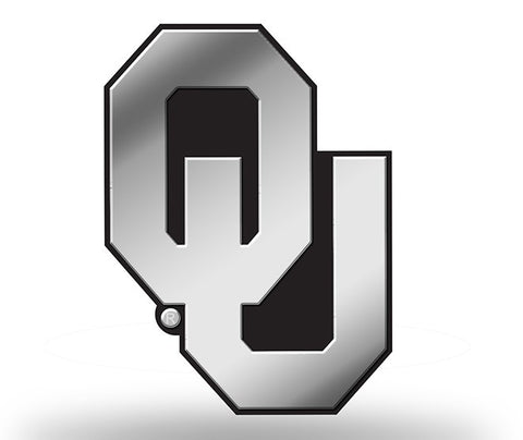 Oklahoma Sooners Logo 3D Chrome Auto Emblem NEW!! Truck or Car! Rico NCAA