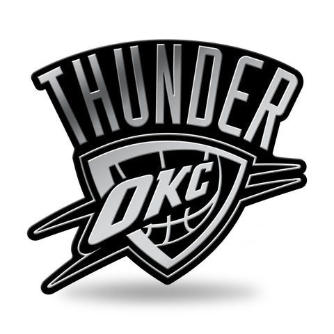 Oklahoma City Thunder Logo 3D Chrome Auto Emblem NEW!! Truck or Car! Rico NBA