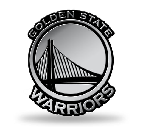 Golden State Warriors Logo 3D Chrome Auto Emblem NEW!! Truck or Car! Rico NBA