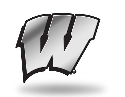 Wisconsin Badgers Logo 3D Chrome Auto Emblem NEW!! Truck or Car! Rico NCAA