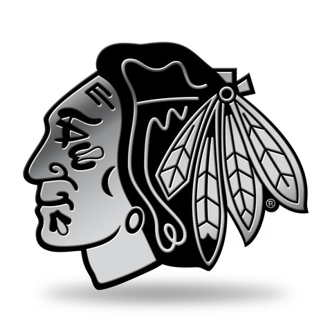 Chicago Blackhawks Logo 3D Chrome Decal Sticker NEW Truck Car Rico