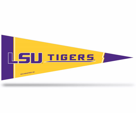 LSU Tigers Middle Man Pennant Felt NEW! Free Shipping 5 x 14 Inches