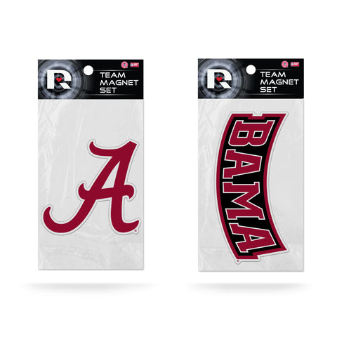 Alabama Crimson Tide Magnet Set 2 piece Logo Wordmark NEW NCAA Free Shipping!