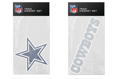 Dallas Cowboys Magnet Set 2 piece Logo Wordmark NEW NFL Free Shipping!